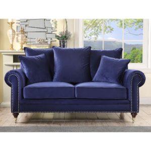 wonderful royal blue living room sofa | Atlanta Georgia Estate Sales Personal Business Property ...